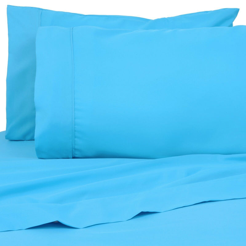 6-Pack: Premier Colorful Soft Super Bright Deep Pocket & Hypoallergenic Bedding Twin/Twin XL Aqua Blue - DailySale