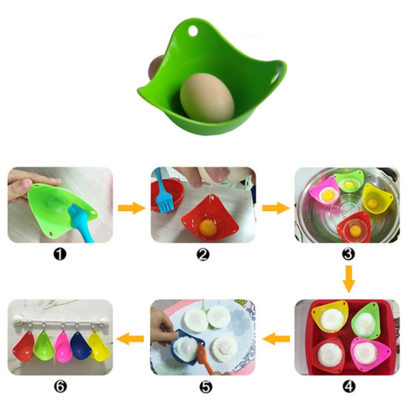 6-Pack: Silicone Egg Poachers Kitchen & Dining - DailySale