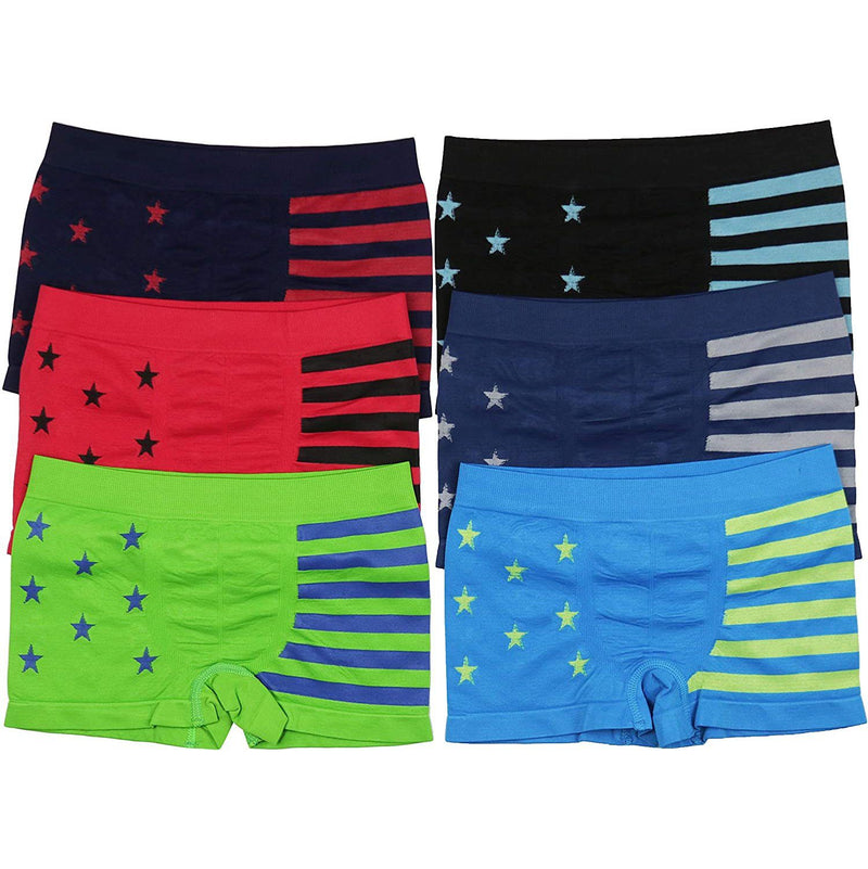 6-Pack: ToBeInStyle Boy's Seamless Boxer Briefs