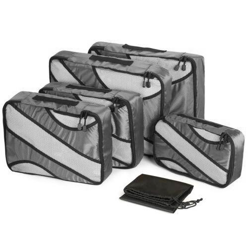 6-Pack: Travel Suitcase Storage Bag Set Bags & Travel Gray - DailySale