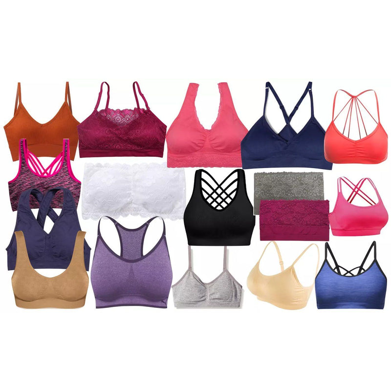 6-Pack: Women's Mystery Seamless Sports and Lounging Bras Women's Clothing - DailySale