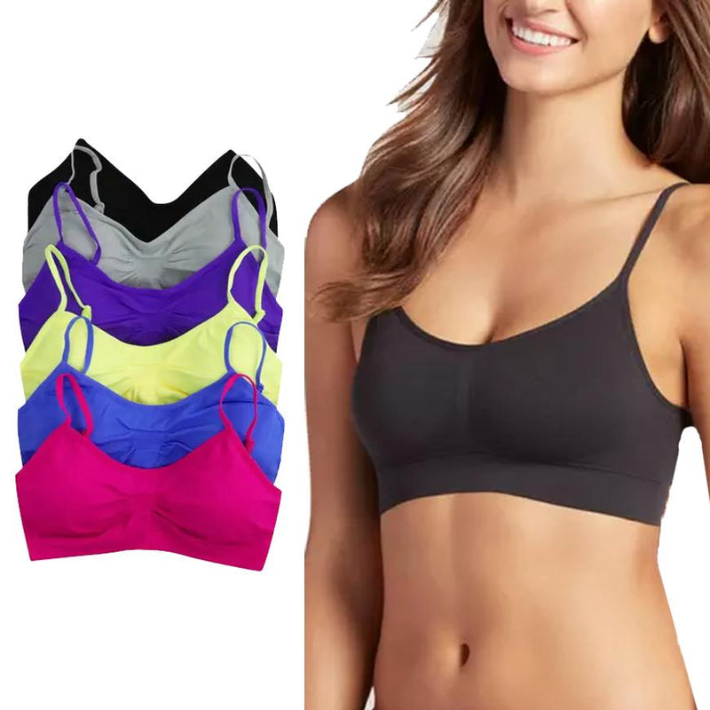 6-Pack: Women's Neon Wirefree Padded Sports Bralette Women's Clothing - DailySale