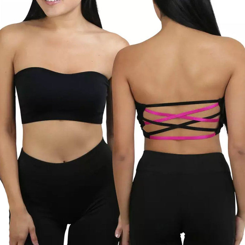 6-Pack: Women's Padded Bandeau Strapless Tube Bras Women's Clothing - DailySale