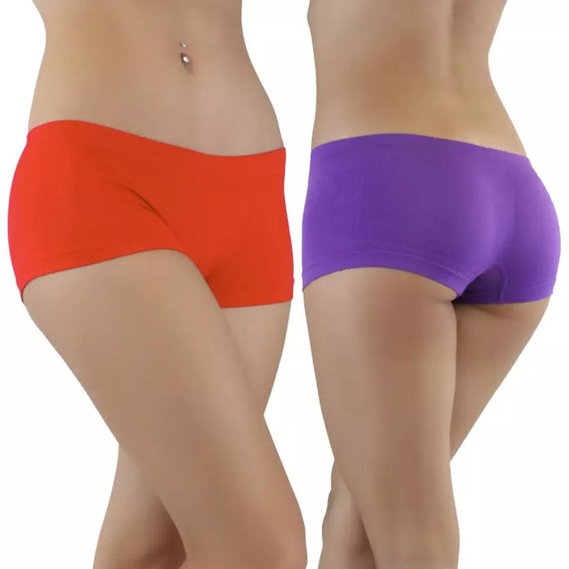 6-Pack: Women's Seamless Stretchy Boy Shorts Women's Clothing - DailySale
