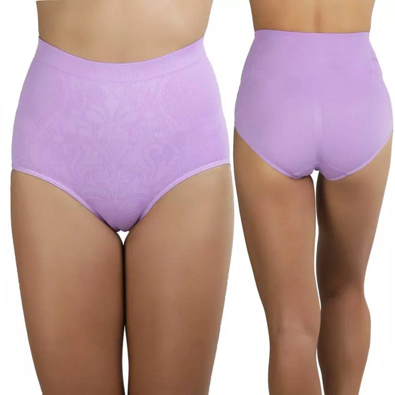 6-Pack: Women's Slimming High-Waisted Panty Briefs - Plus Size
