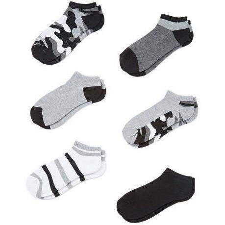 6-Pairs: Cover Girl Womens Low Cut/No Show Socks Women's Accessories Gray Camo - DailySale