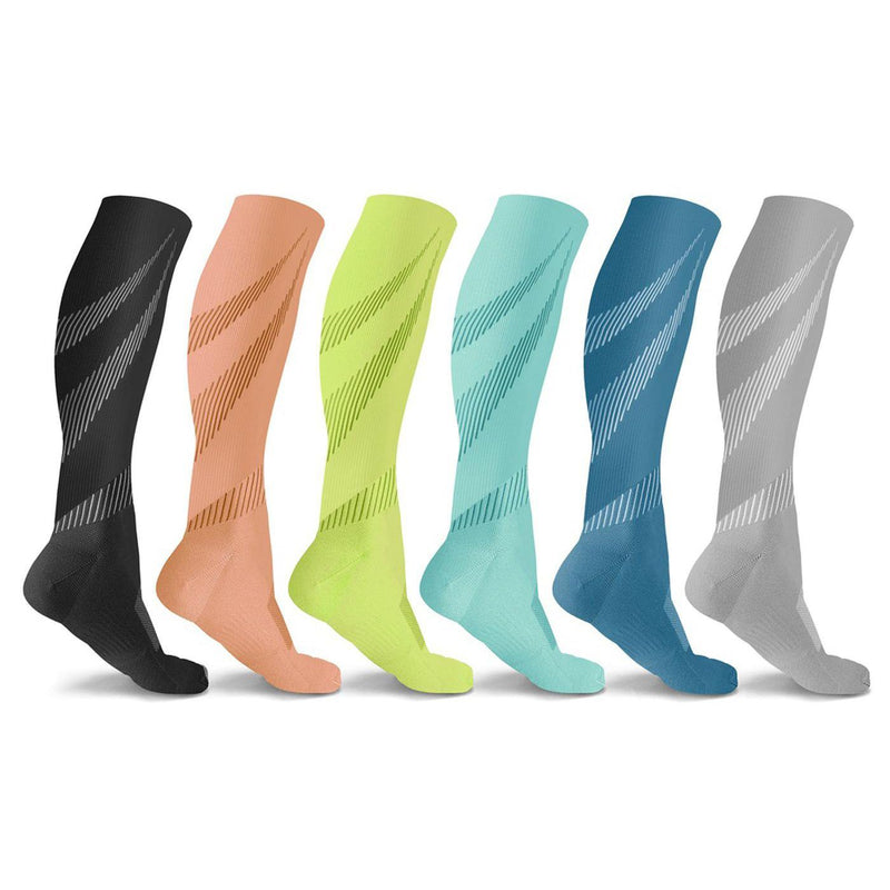 6-Pairs: DCF Elite Lightweight Compression Socks Wellness & Fitness S/M - DailySale