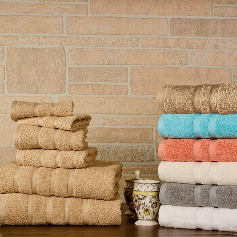 6-Piece Bibb Home Absorbent 100% Egyptian Cotton Towel Set Home Essentials - DailySale