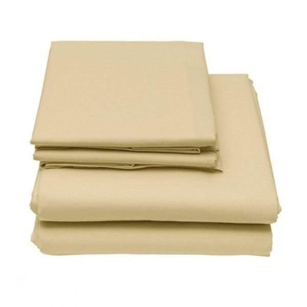 6-Piece Set: Egyptian Comfort 1600 Count Deep Pocket Bed Sheets Bed & Bath Twin Cream - DailySale
