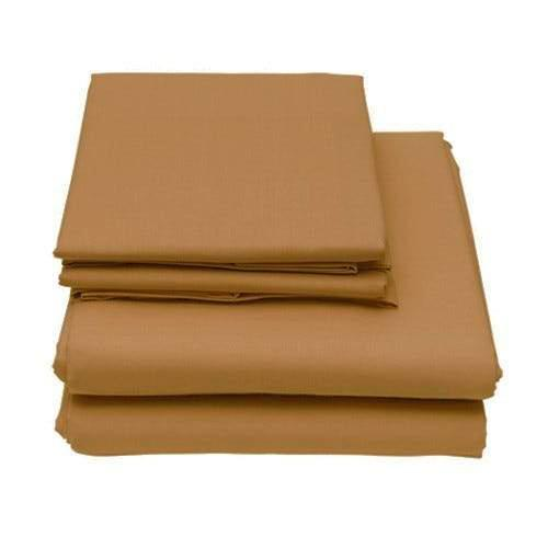 6-Piece Set: Egyptian Comfort 1600 Count Deep Pocket Bed Sheets Bed & Bath Twin Dark Khaki - DailySale