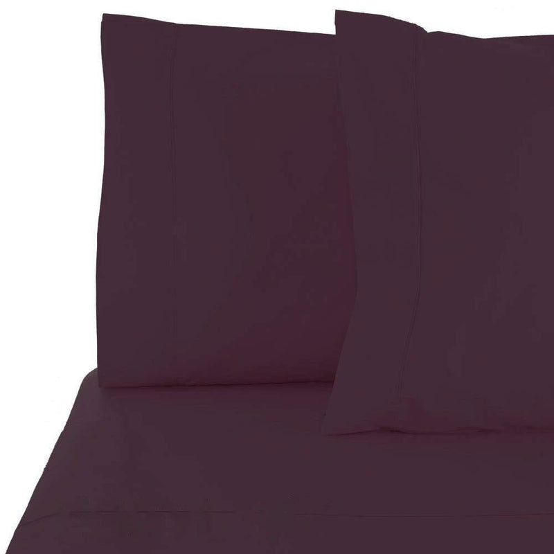 6-Piece Set: Egyptian Comfort 1600 Count Deep Pocket Bed Sheets Bed & Bath Twin Eggplant - DailySale