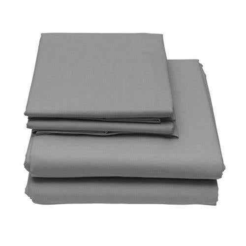 6-Piece Set: Egyptian Comfort 1600 Count Deep Pocket Bed Sheets Bed & Bath Twin Light Gray - DailySale