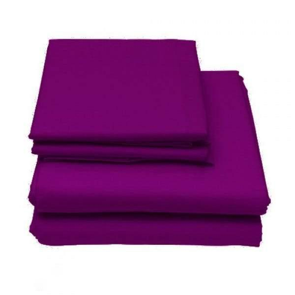 6-Piece Set: Egyptian Comfort 1600 Count Deep Pocket Bed Sheets Bed & Bath Twin Purple - DailySale