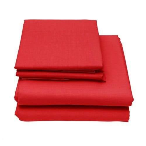6-Piece Set: Egyptian Comfort 1600 Count Deep Pocket Bed Sheets Bed & Bath Twin Red - DailySale
