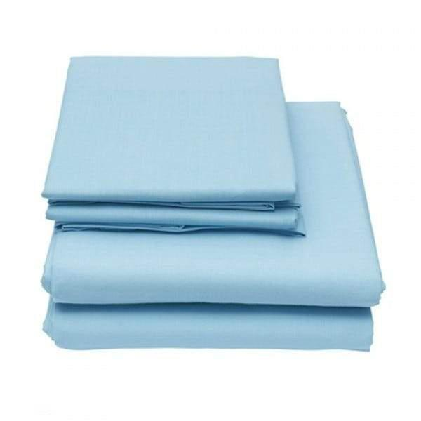 6-Piece Set: Egyptian Comfort 1600 Count Deep Pocket Bed Sheets Bed & Bath Twin Sky Blue - DailySale