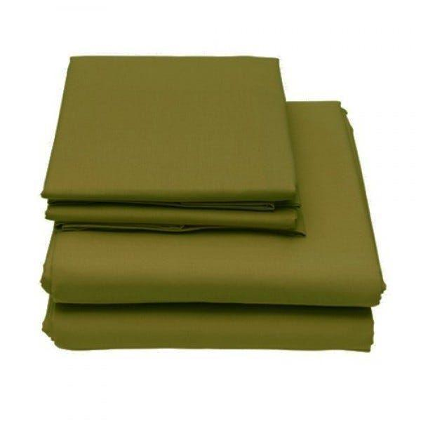 6-Piece Set: Egyptian Comfort 1600 Count Deep Pocket Bed Sheets - More Colors Bed & Bath Twin Olive - DailySale