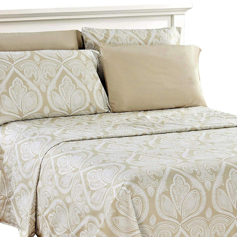 6-Piece Set: Paisley Bed Sheets - Assorted Sizes Linen & Bedding Twin Ivory - DailySale