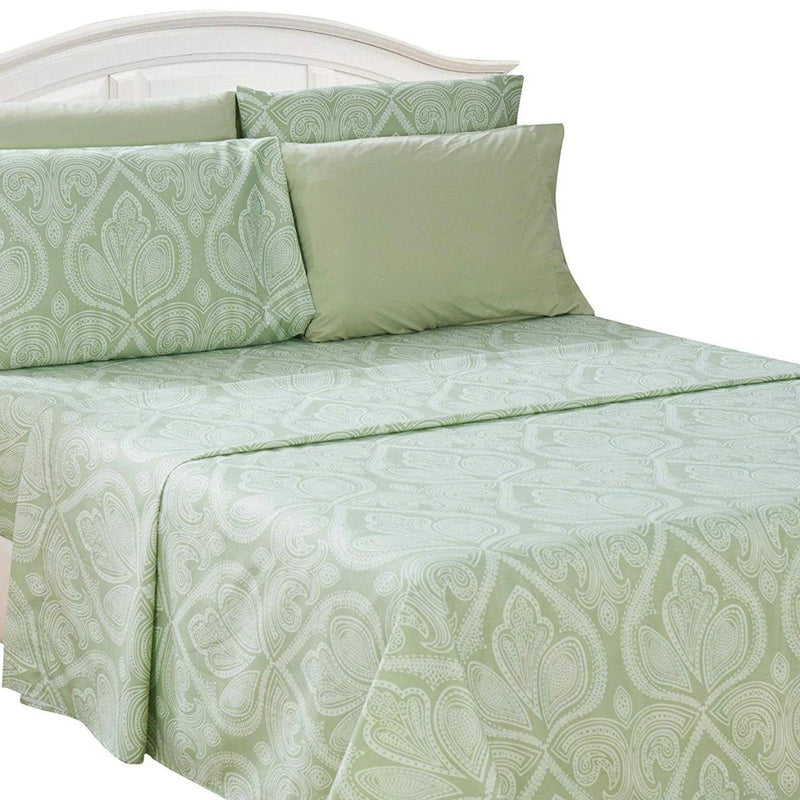 6-Piece Set: Paisley Bed Sheets - Assorted Sizes Linen & Bedding Twin Sage - DailySale