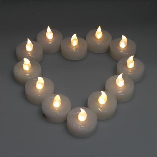 60-Piece: Warm White LED Light Wedding Party Flameless Candle Lighting & Decor - DailySale