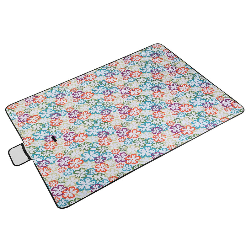 "60"" x 78"" Foldable Waterproof Picnic Blanket with Strap"
