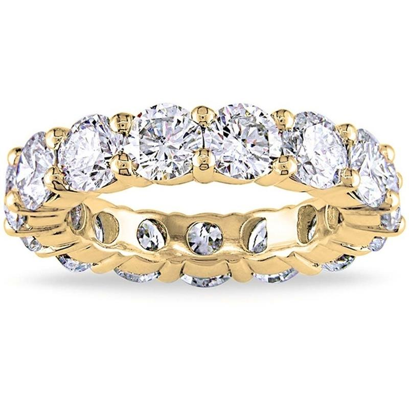 6.00 CTTW Cubic Zirconia Eternity Band - Assorted Sizes Jewelry 5 Gold - DailySale
