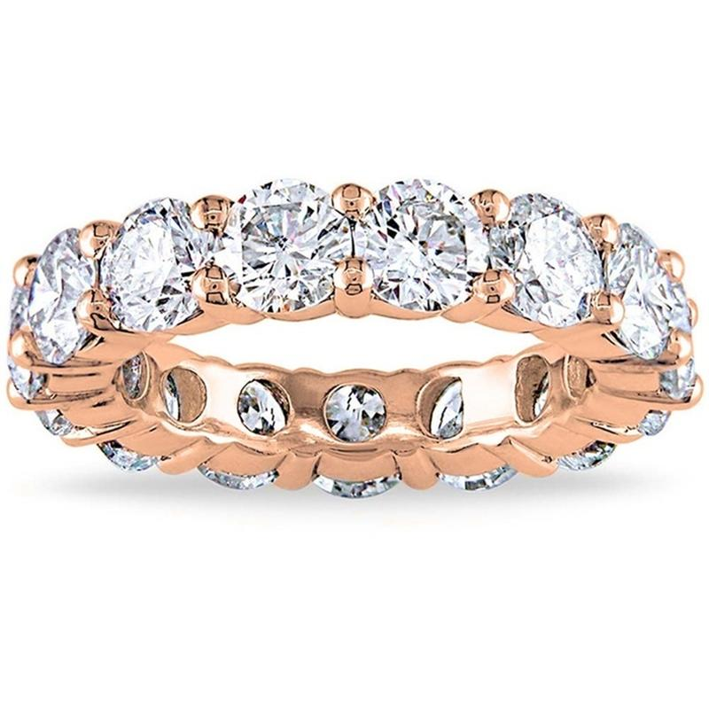 6.00 CTTW Cubic Zirconia Eternity Band - Assorted Sizes Jewelry 5 Rose Gold - DailySale