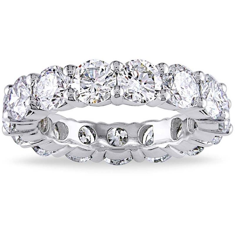 6.00 CTTW Cubic Zirconia Eternity Band - Assorted Sizes Jewelry 5 Silver - DailySale