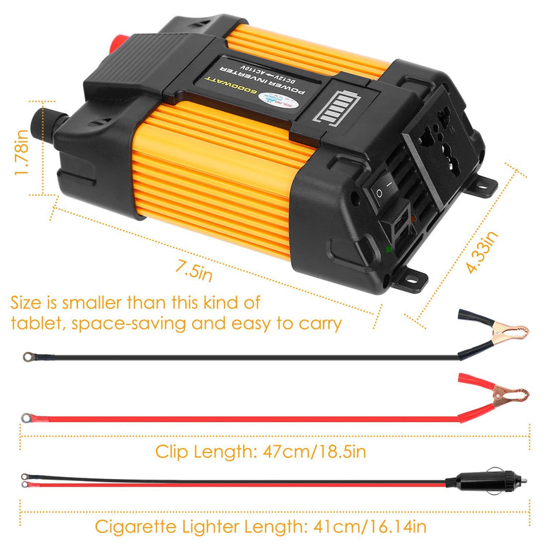 6000W Peak Power Inverter DC 1 Mobile Accessories - DailySale