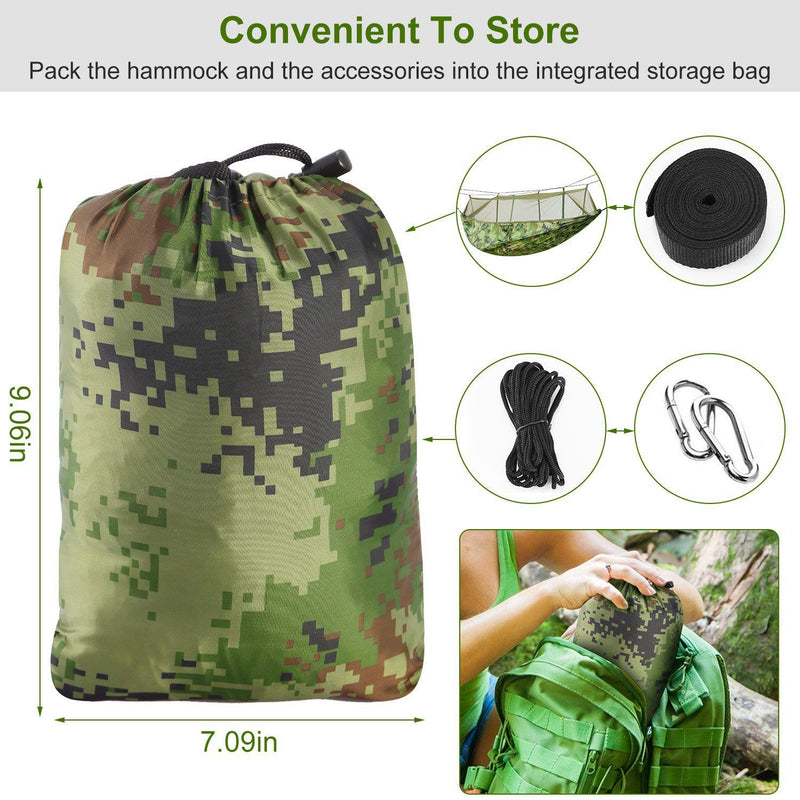 600lbs Load 2 Persons Hammock with Mosquito Net Sports & Outdoors - DailySale