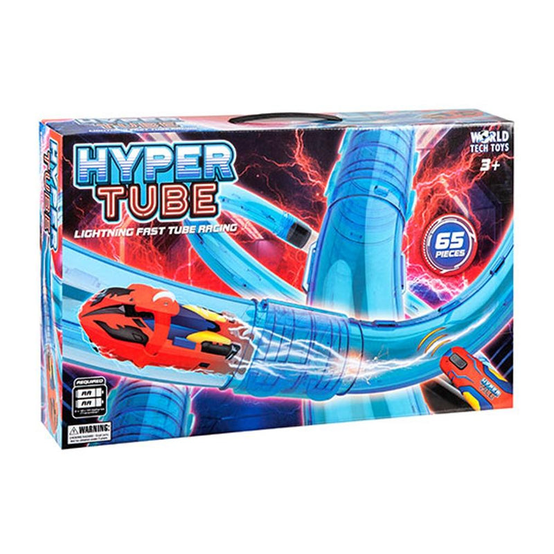 65 Piece Set: Hyper Tube Lightning Fast Tube Racing Playset Toys & Games - DailySale