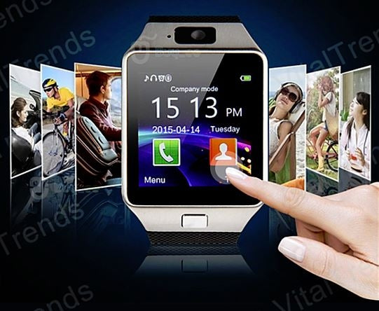 Bluetooth Smart Watch with Camera, Pedometer, Activity Monitor and iPhone/Android Phone Sync - DailySale, Inc