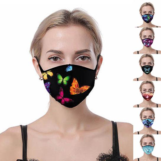 7-Pack: Butterfly Designed Fabric Masks Face Masks & PPE - DailySale