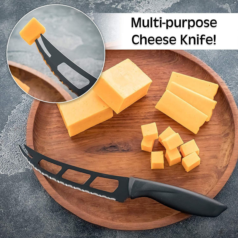 7-Piece Set: Chef Knife, Bread, Carving, Utility, Pairing, Cheese, Pizza Kitchen Essentials - DailySale