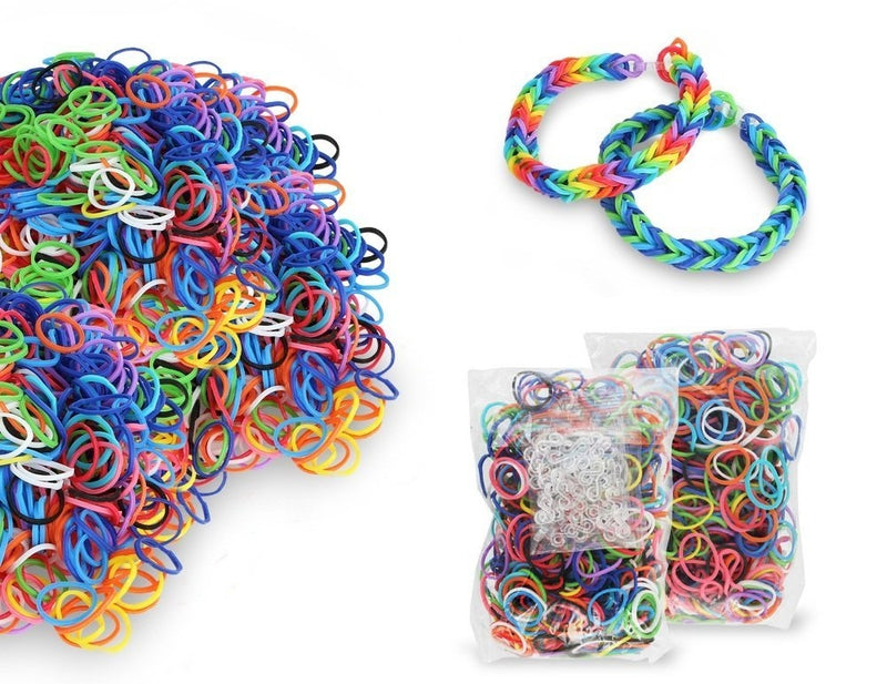 2504-Piece Set: Colorful Silicone Loom Bandz with Tools - DailySale, Inc
