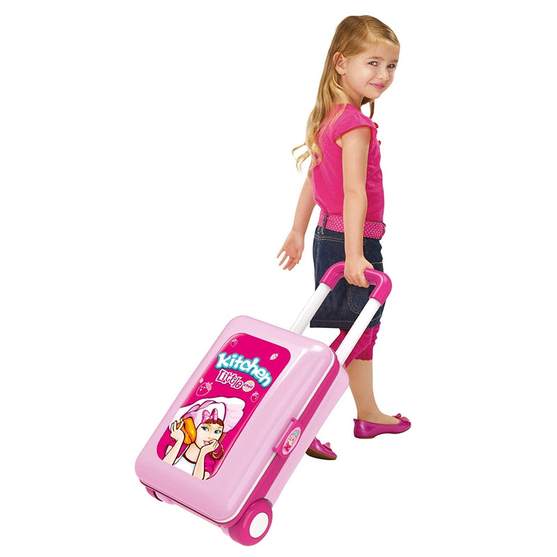 2-in-1 Pretend Play Game Travel Suitcase for Girls - DailySale, Inc