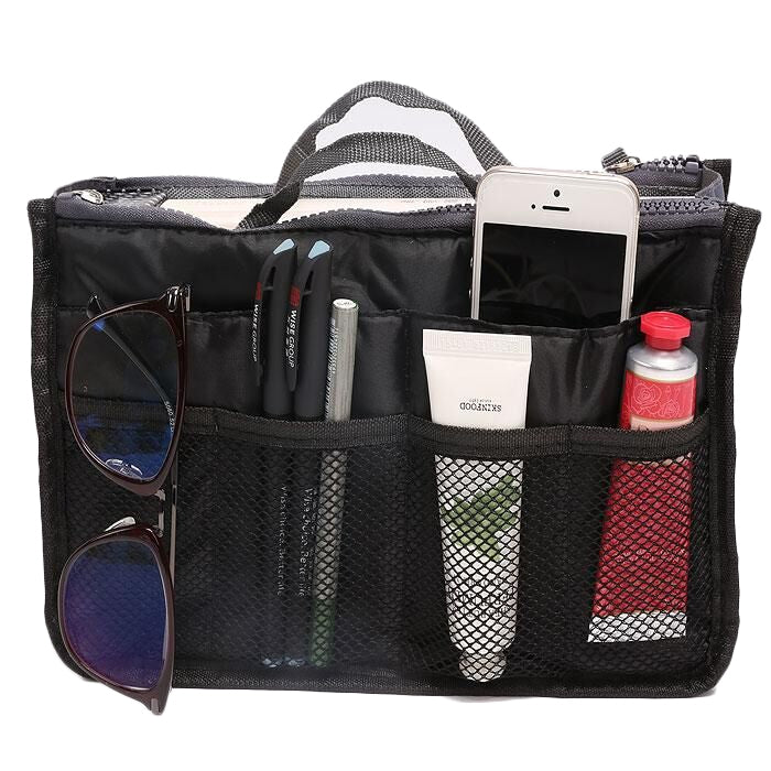 Multiple Pockets Cosmetic/Purse Organizer Bag - DailySale, Inc