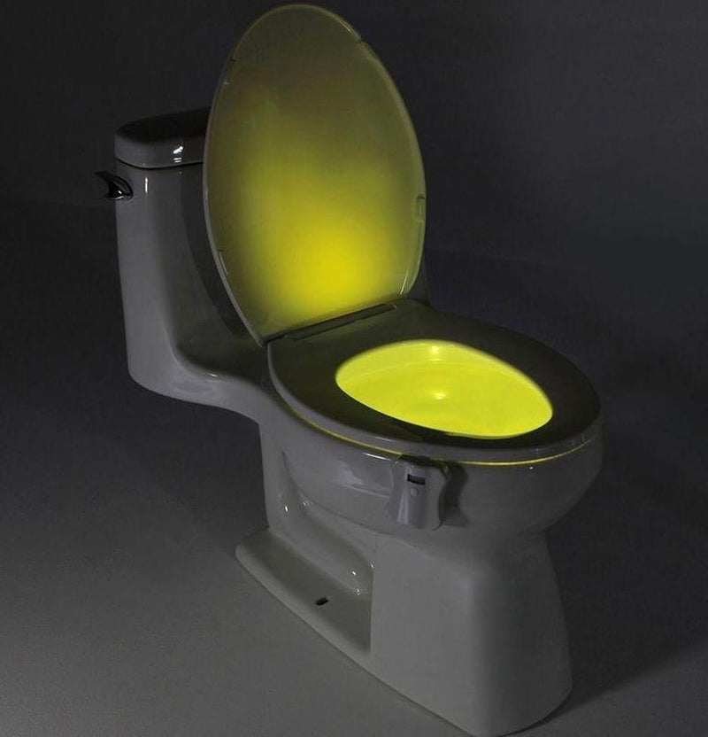 8-Color LED Sensor Motion-Activated Bathroom Toilet Light Home Essentials - DailySale