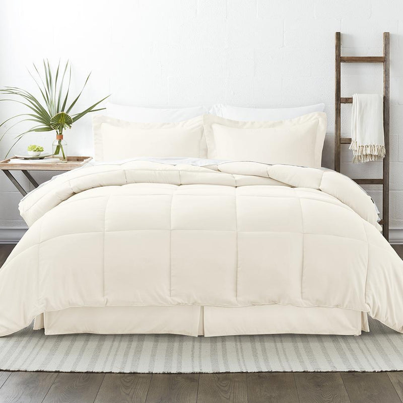 8-Piece: Bed in a Box Hypoallergenic Double Brushed Deep Pocket Set Bedding Twin Ivory - DailySale