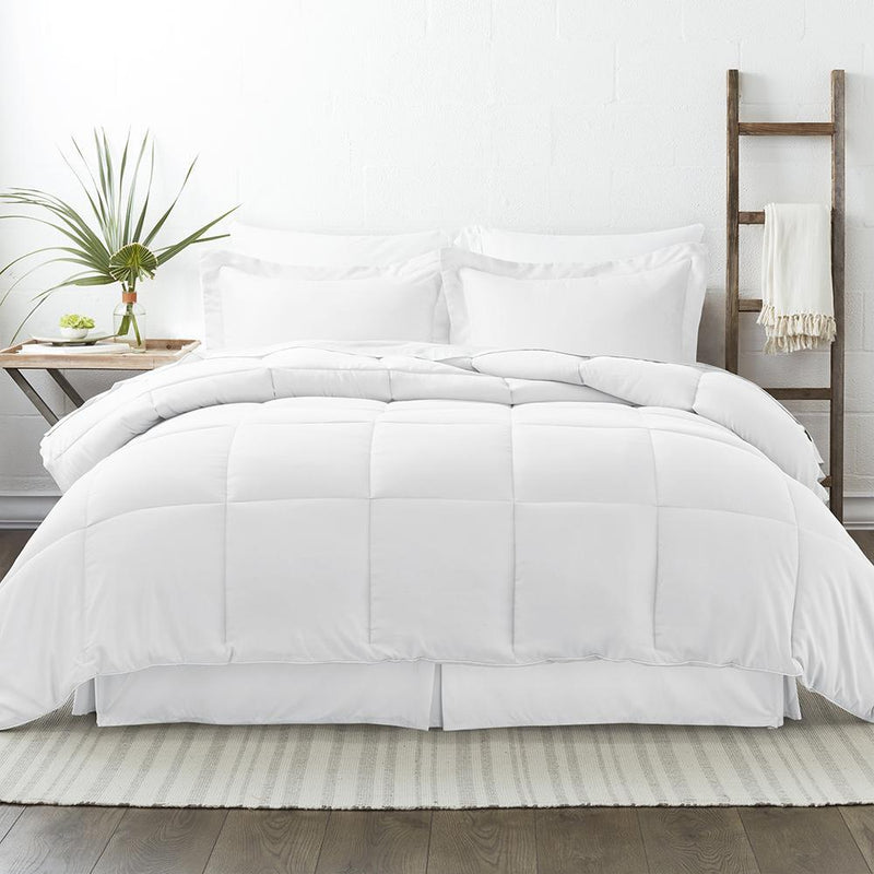 8-Piece: Bed in a Box Hypoallergenic Double Brushed Deep Pocket Set Bedding Twin White - DailySale