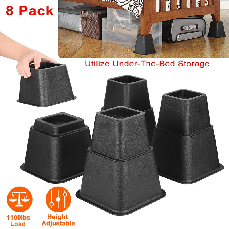 8-Pieces: Furniture Risers Home Improvement - DailySale