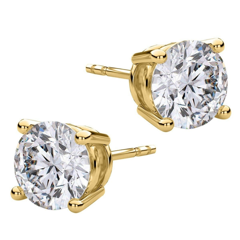 8.00 CTW Round Stud Earrings - Assorted Styles Jewelry Gold - DailySale