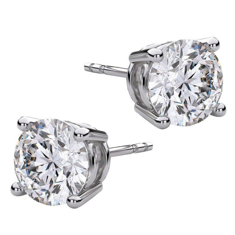 8.00 CTW Round Stud Earrings - Assorted Styles Jewelry Silver - DailySale