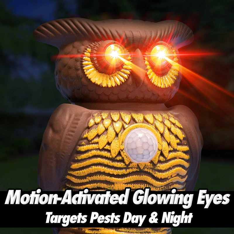 Owl Alert Statue - Targets Outdoor Pests Like Racoons, Deer, Rabbits, Squirrels, Mice and More - DailySale, Inc