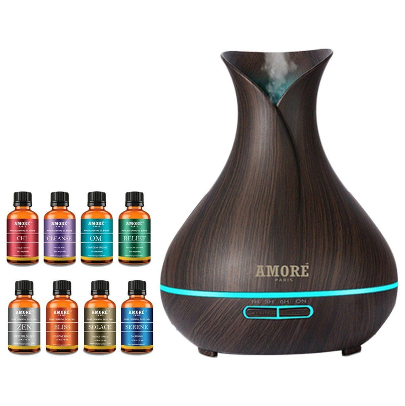 9-Pack: Ultrasonic Diffuser with Optional Essential Oil Gift Set Wellness & Fitness No. 2 - DailySale