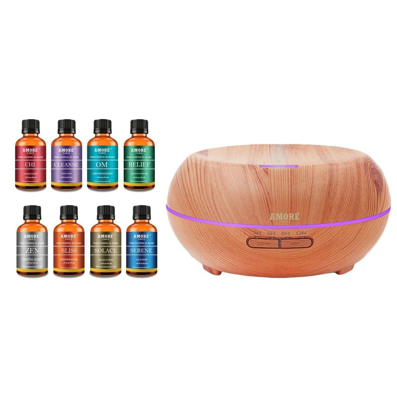 9-Pack: Ultrasonic Diffuser with Optional Essential Oil Gift Set Wellness & Fitness No. 3 - DailySale