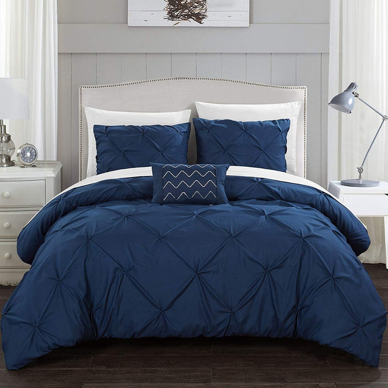 Armi Pinch-Pleated Microfiber Duvet Cover Set - DailySale, Inc