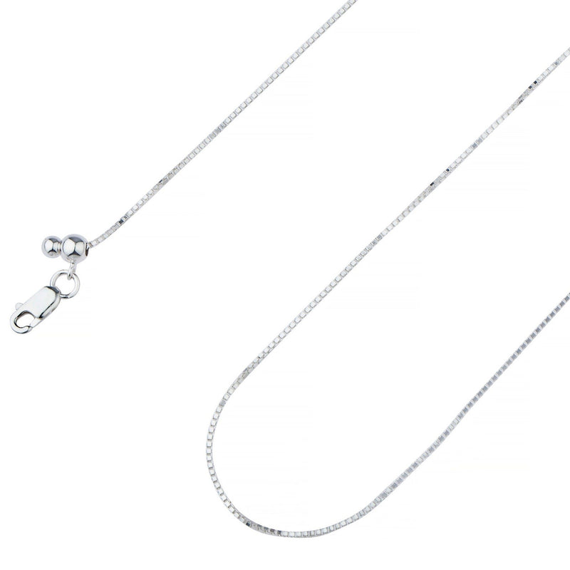 .925 Sterling Silver Box Chain 1.00mm Necklaces - DailySale