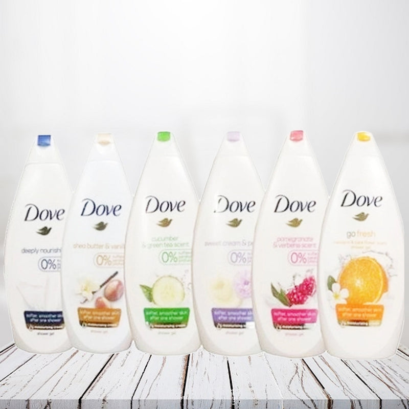 6-Pack Dove Body Wash Shower Gel - DailySale, Inc