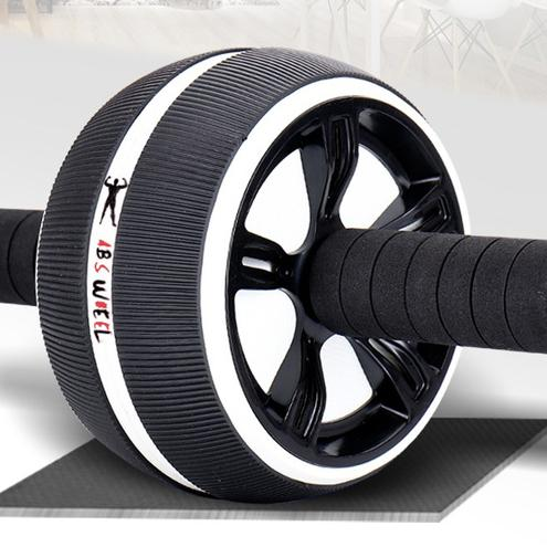 ABS Abdominal Roller Wheel Workout Fitness Black - DailySale