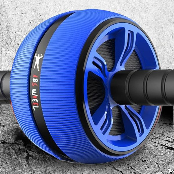 ABS Abdominal Roller Wheel Workout Fitness Blue - DailySale